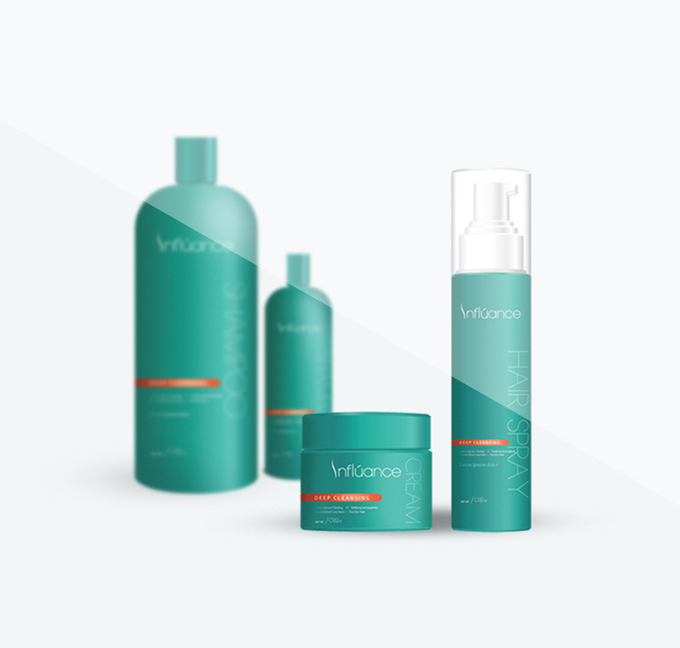 Elevate Branding - Hair care corporate rebrand proposal, packaging design, cosmetology salon product brand