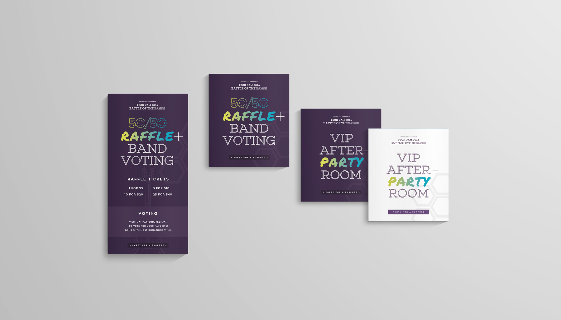 TechStart Tampa Tech Jam 2016, tech event branding, event branding and graphic design, branding technology