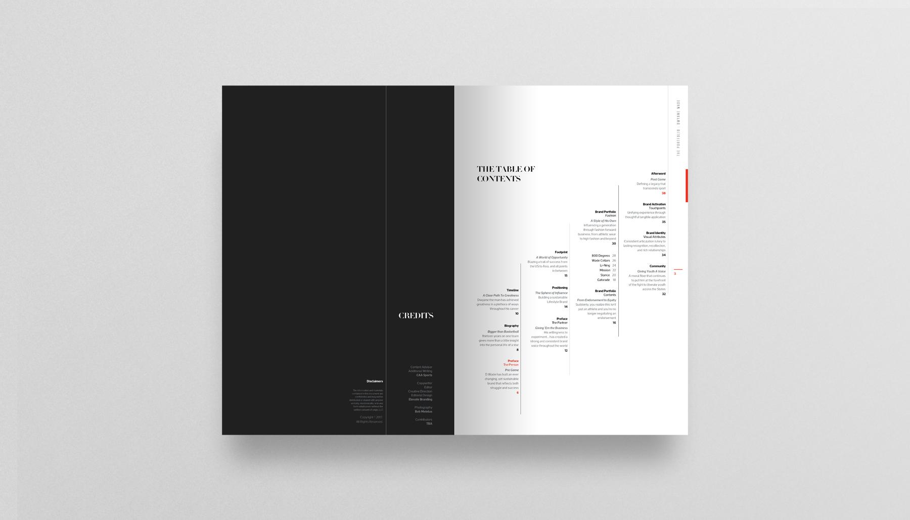 Dwyane Wade brand book by Elevate Branding, Inc.
