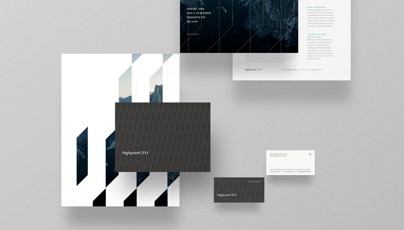 Highpoint CFO branding — B2B Finance firm branding, Tampa Bay