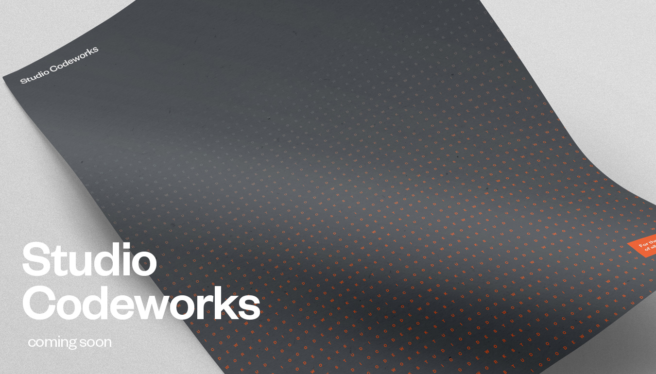 Studio Codeworks rebrand — technology service firm branding